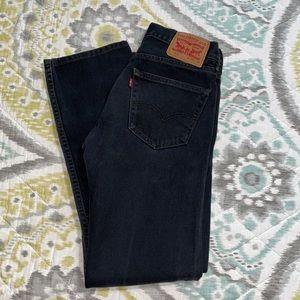 Black Levi's 505 Jeans
